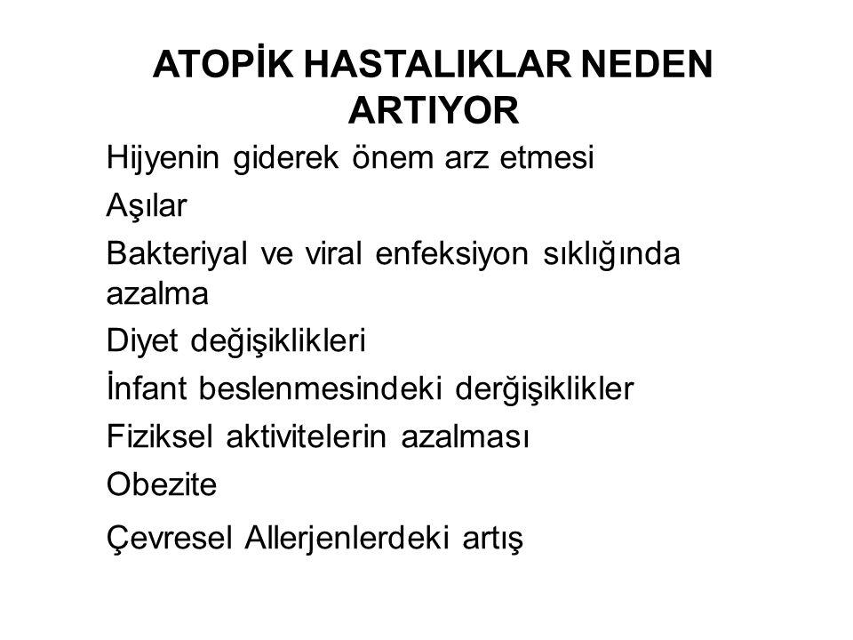 ATOPİK HASTALIKLAR NEDEN ARTIYOR