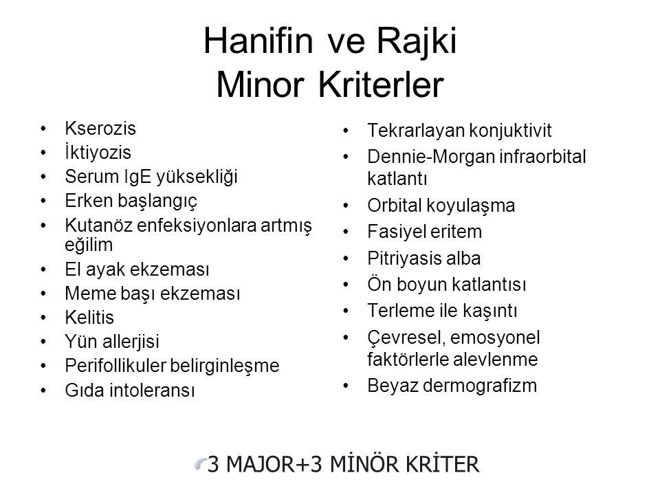 Hanifin ve Rajki Minor Kriterler