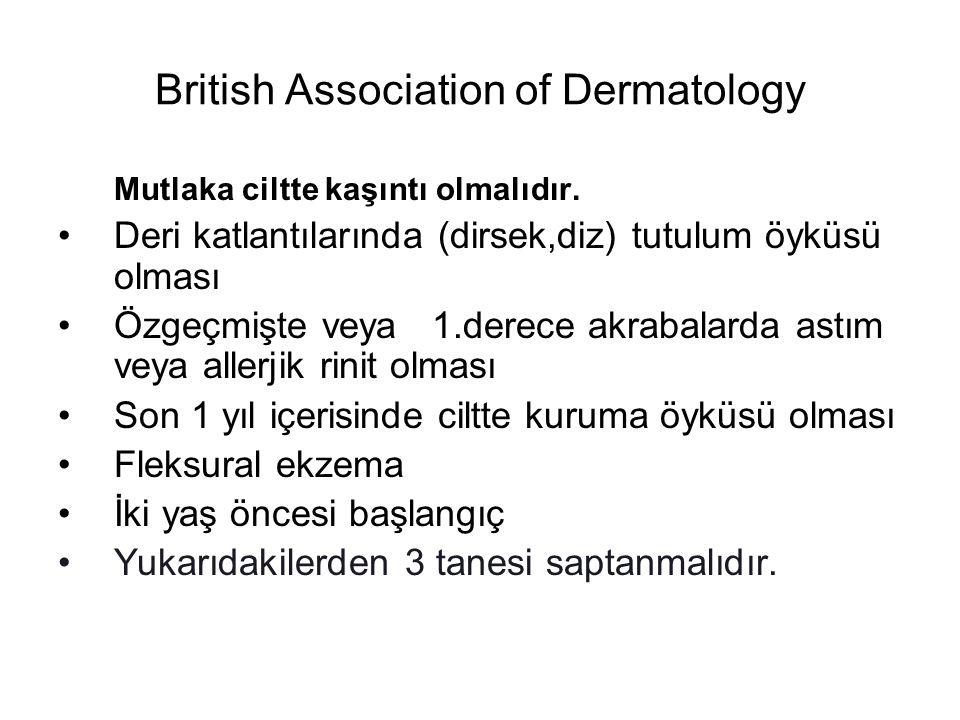 British Association of Dermatology