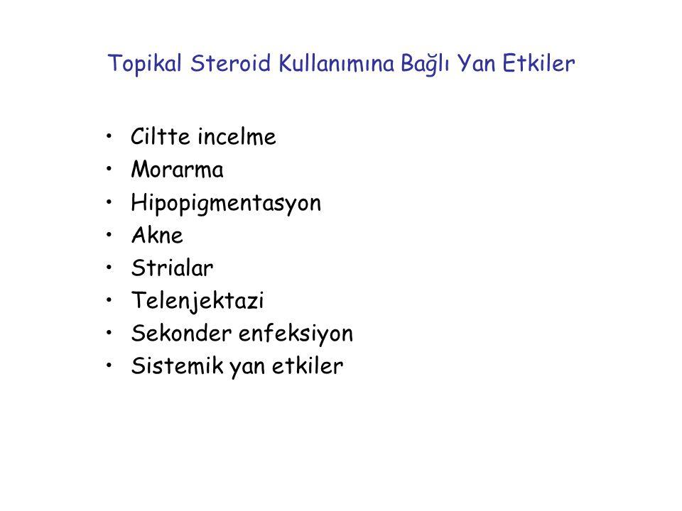 Topikal Steroid Kullanımına Bağlı Yan Etkiler