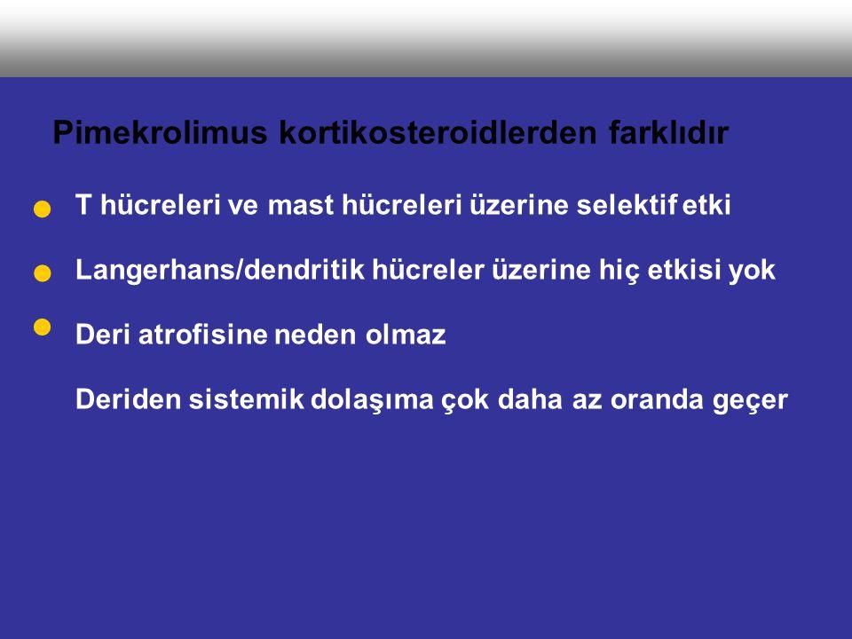 Pimekrolimus kortikosteroidlerden farklıdır