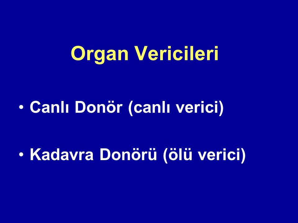 Organ Vericileri Canlı Donör (canlı verici)