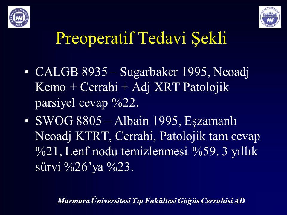 Preoperatif Tedavi Şekli