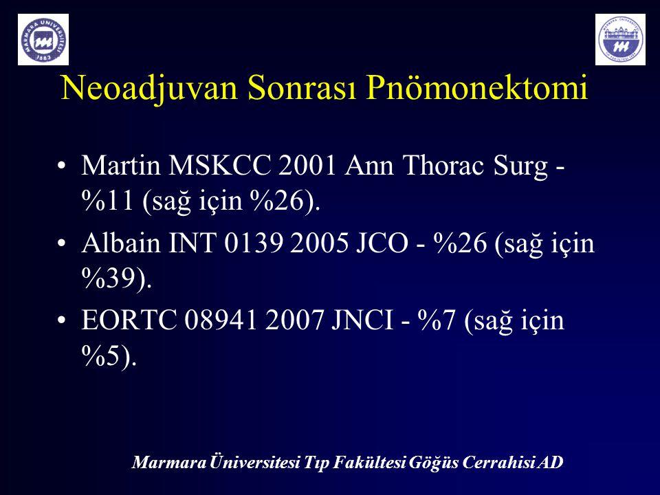 Neoadjuvan Sonrası Pnömonektomi