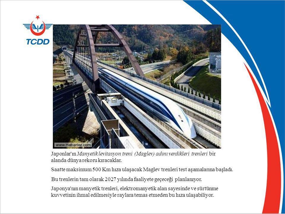 Japonlar ın Manyetik levitasyon treni (Maglev) adını verdikleri trenleri bir alanda dünya rekoru kıracaklar.