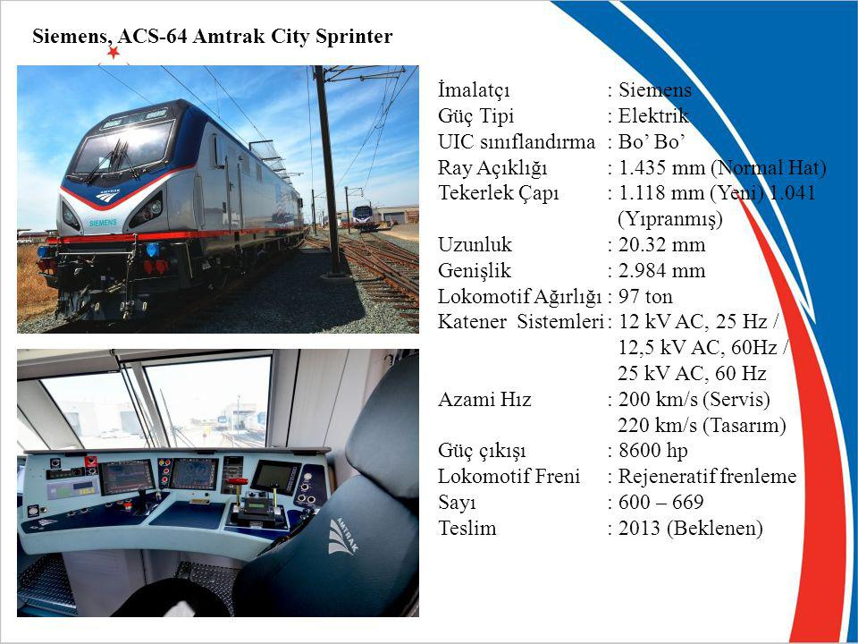 Siemens, ACS-64 Amtrak City Sprinter