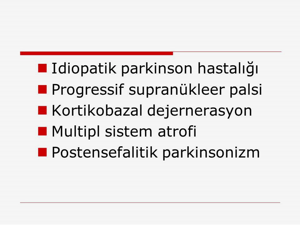 Idiopatik parkinson hastalığı