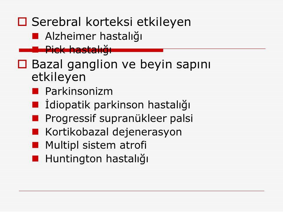Serebral korteksi etkileyen