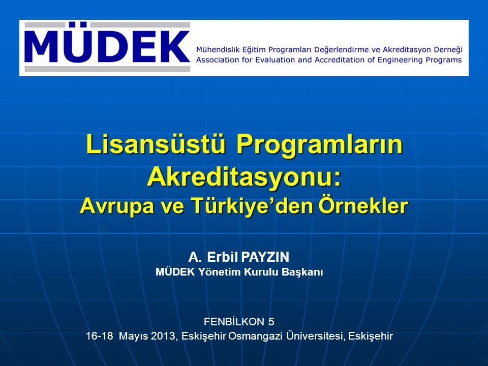 Sunum İçeriği Lisansüstü program akreditasyonu için Avrupa'dan örnekler: Mühendislik. Enformatik.