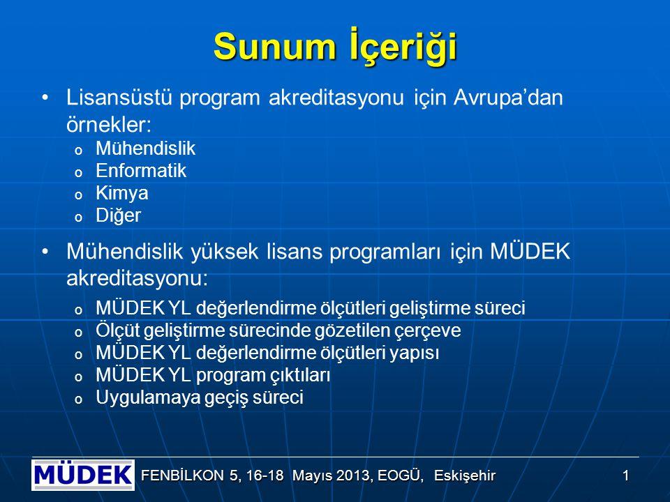 Mühendislik Alanında Lisansüstü Program Akreditasyonu