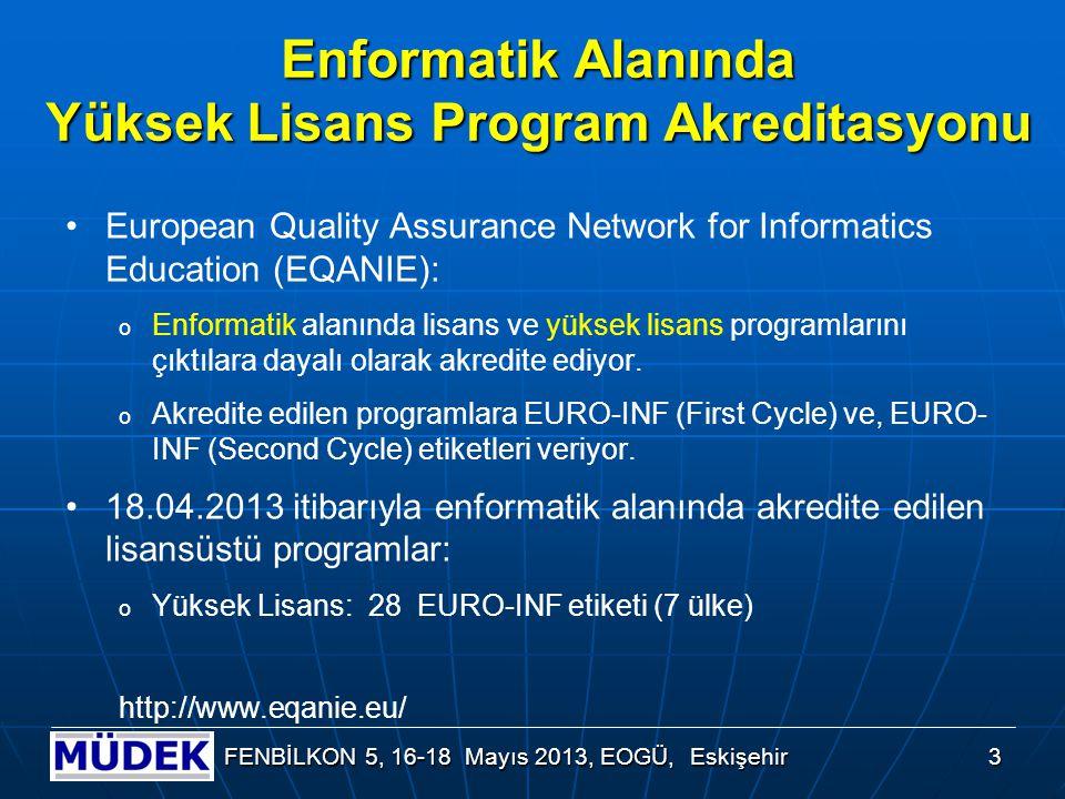 Kimya Alanında Lisansüstü Program Akreditasyonu