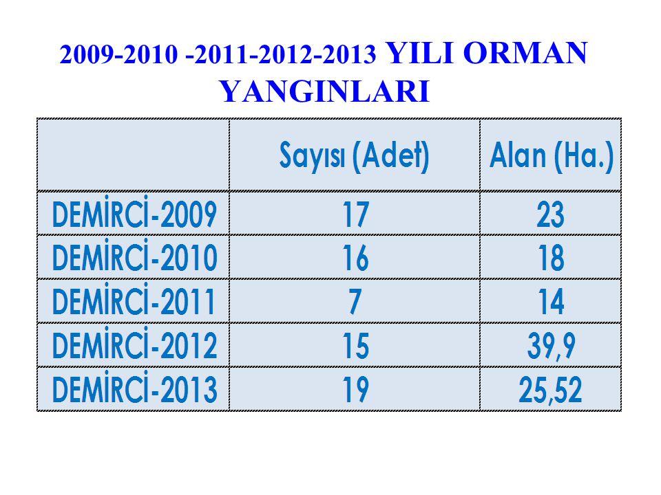 2009-2010 -2011-2012-2013 YILI ORMAN YANGINLARI