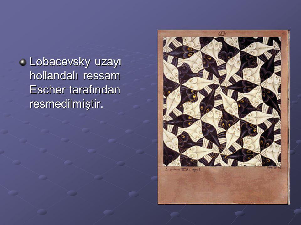 Lobacevsky uzayı hollandalı ressam Escher tarafından resmedilmiştir.