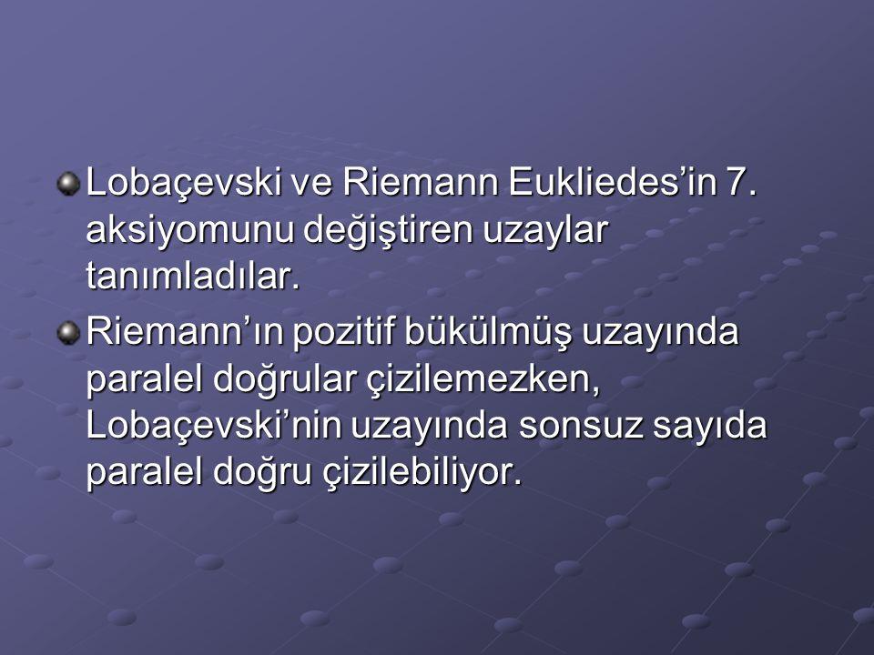 Lobaçevski ve Riemann Eukliedes'in 7