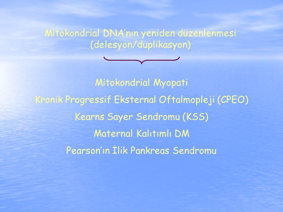 Mitokondrial DNA'nın yeniden düzenlenmesi (delesyon/duplikasyon)