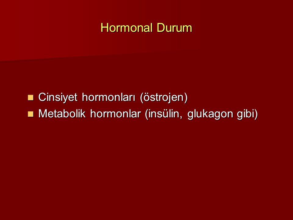 Hormonal Durum Cinsiyet hormonları (östrojen)
