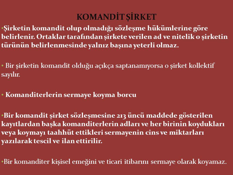 KOMANDİT ŞİRKET