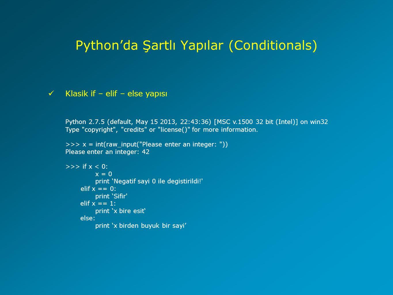 Python'da Şartlı Yapılar (Conditionals)