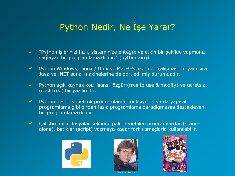 Python Nedir, Ne İşe Yarar