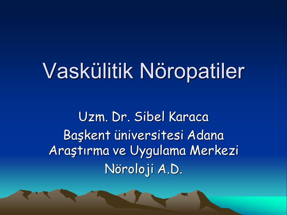 Vaskülitik Nöropatiler