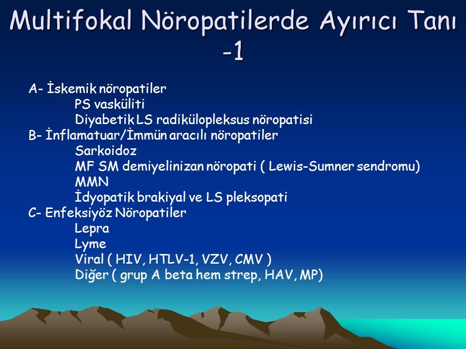 Multifokal Nöropatilerde Ayırıcı Tanı -1