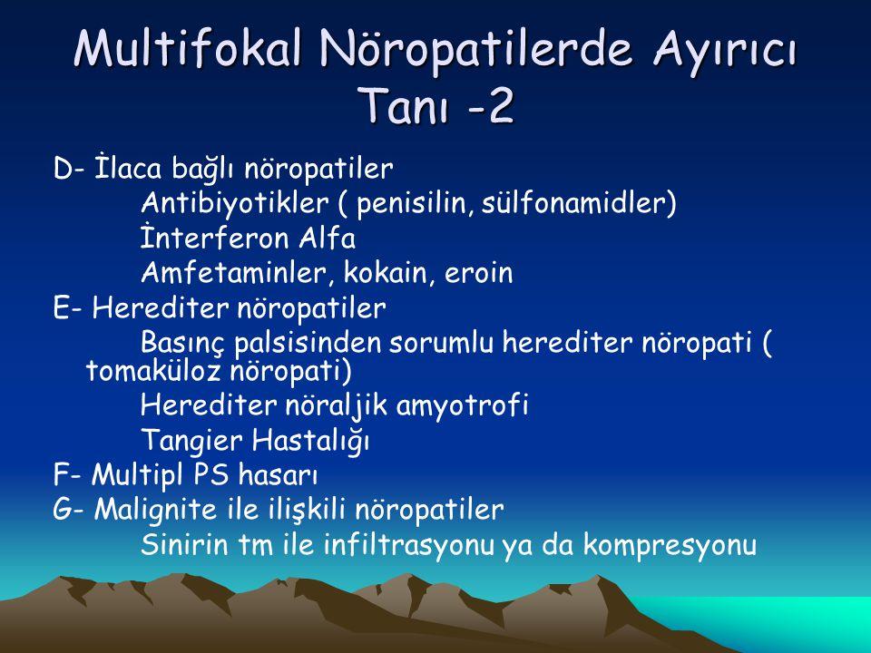 Multifokal Nöropatilerde Ayırıcı Tanı -2