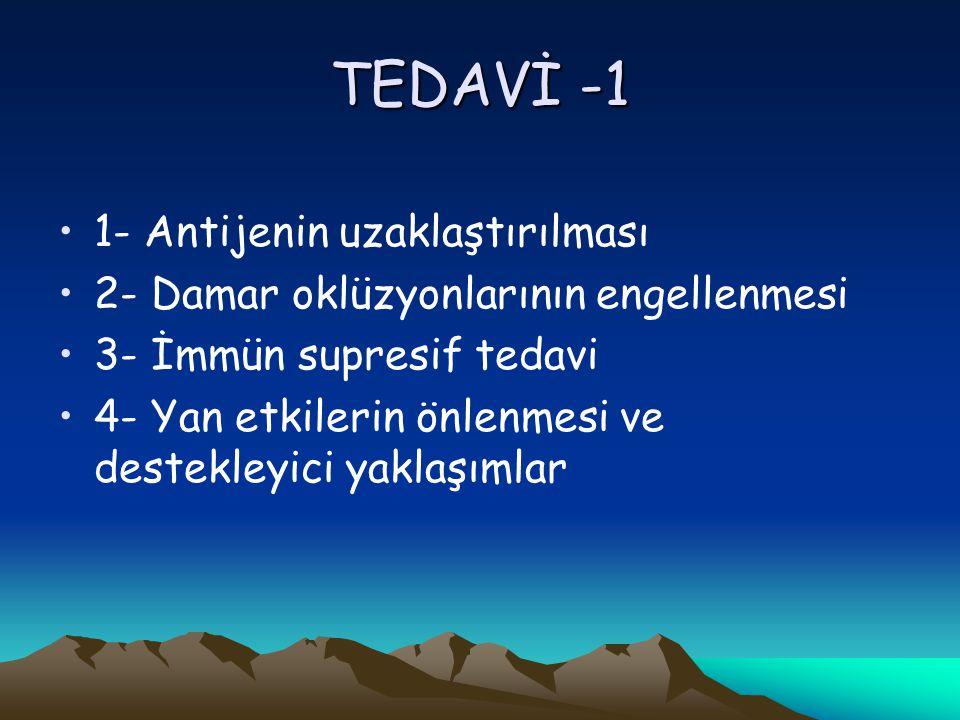 TEDAVİ -1 1- Antijenin uzaklaştırılması