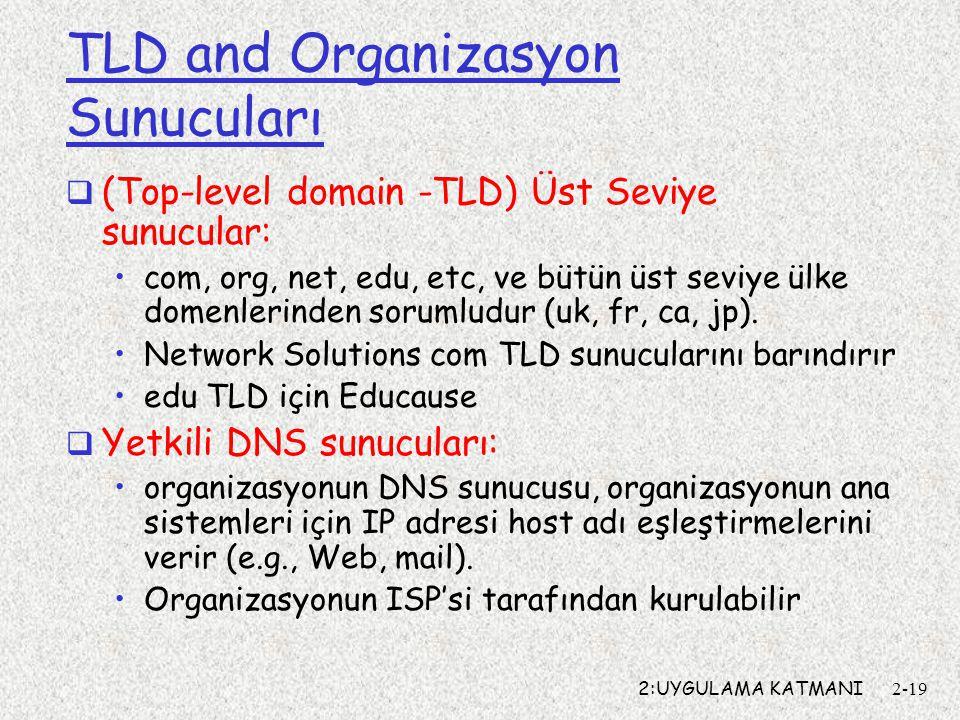 TLD and Organizasyon Sunucuları