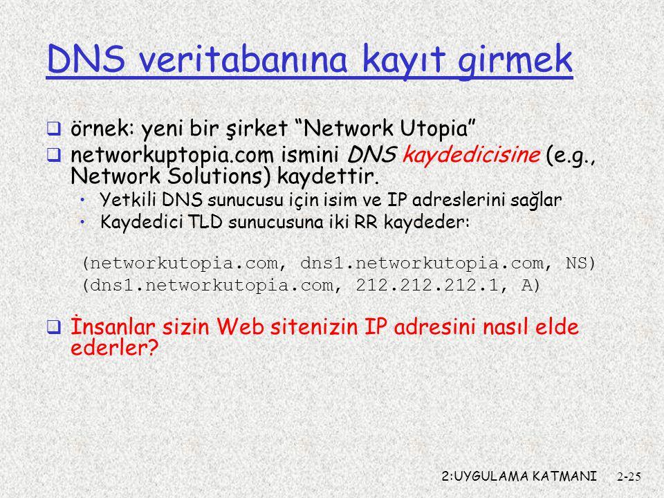 DNS veritabanına kayıt girmek