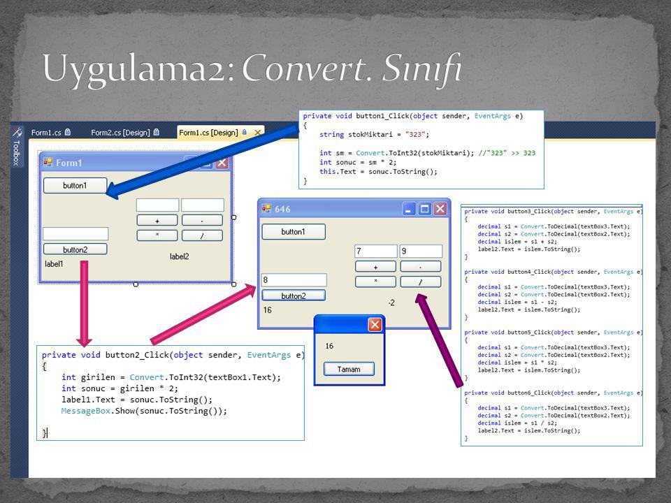 Uygulama2: Convert. Sınıfı
