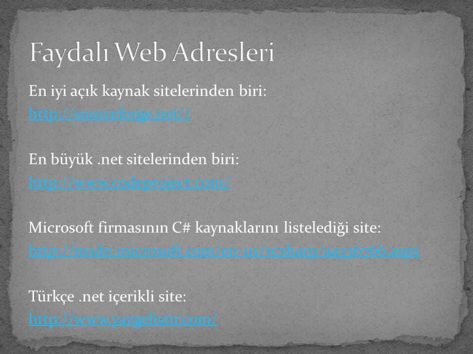 Faydalı Web Adresleri En iyi açık kaynak sitelerinden biri: