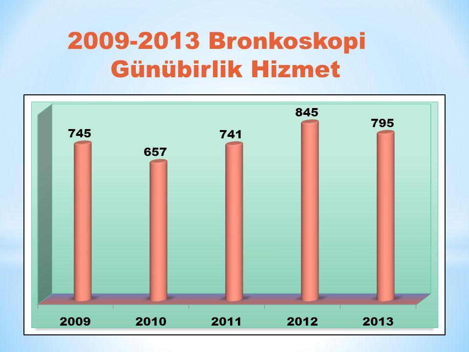 2009-2013 Bronkoskopi Günübirlik Hizmet
