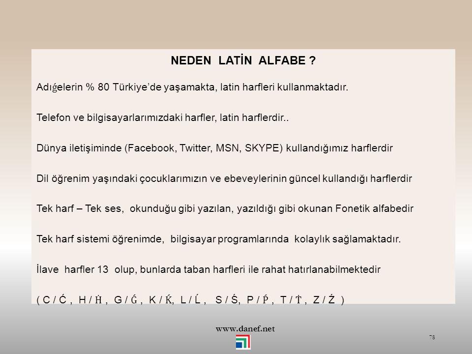 NEDEN LATİN ALFABE Adıǵelerin % 80 Türkiye'de yaşamakta, latin harfleri kullanmaktadır.
