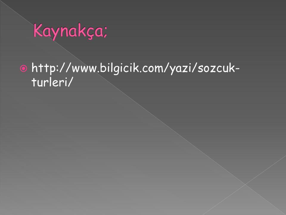 Kaynakça; http://www.bilgicik.com/yazi/sozcuk-turleri/