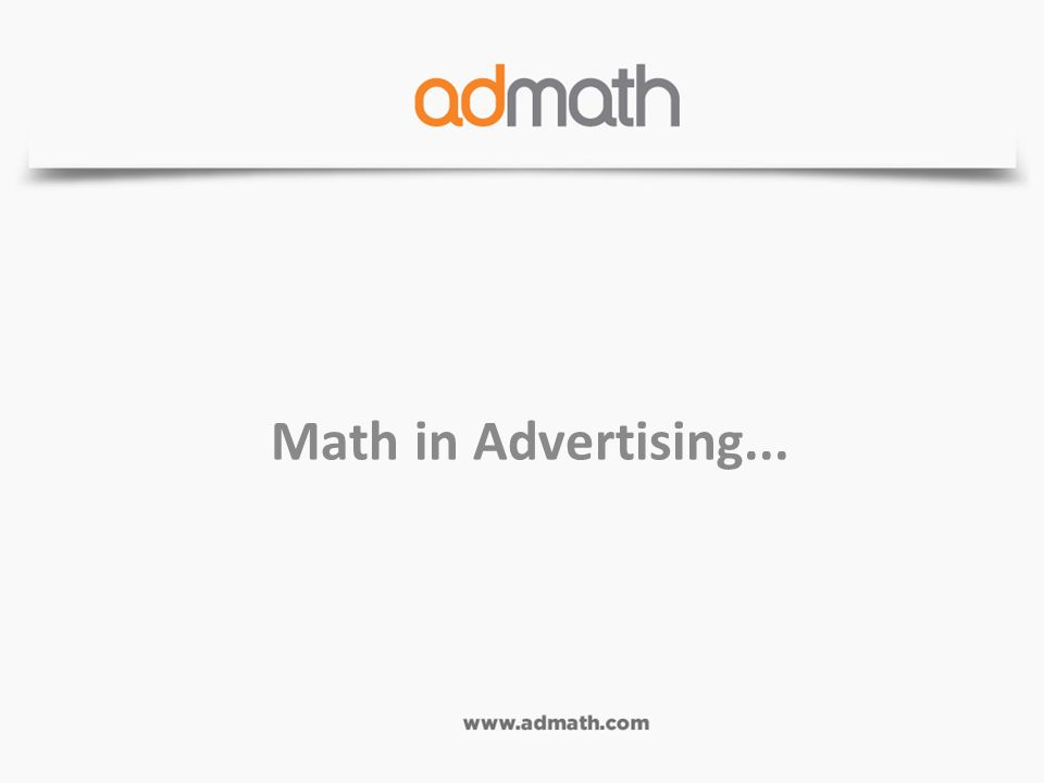 Math in Advertising...