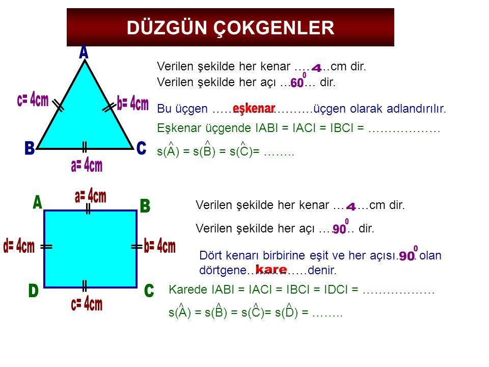 A 4 60 c= 4cm b= 4cm B C a= 4cm a= 4cm A B B 4 90 d= 4cm b= 4cm 90 D C