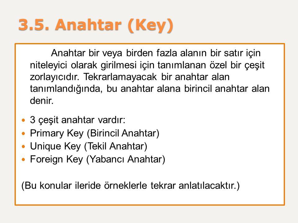 3.5. Anahtar (Key)