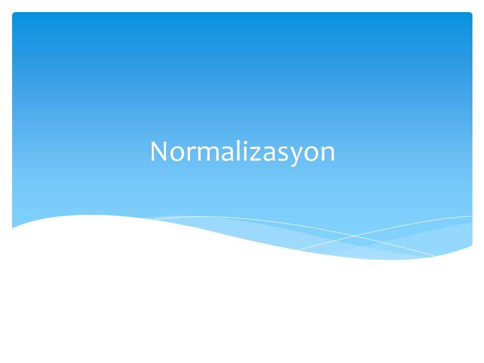 Normalizasyon