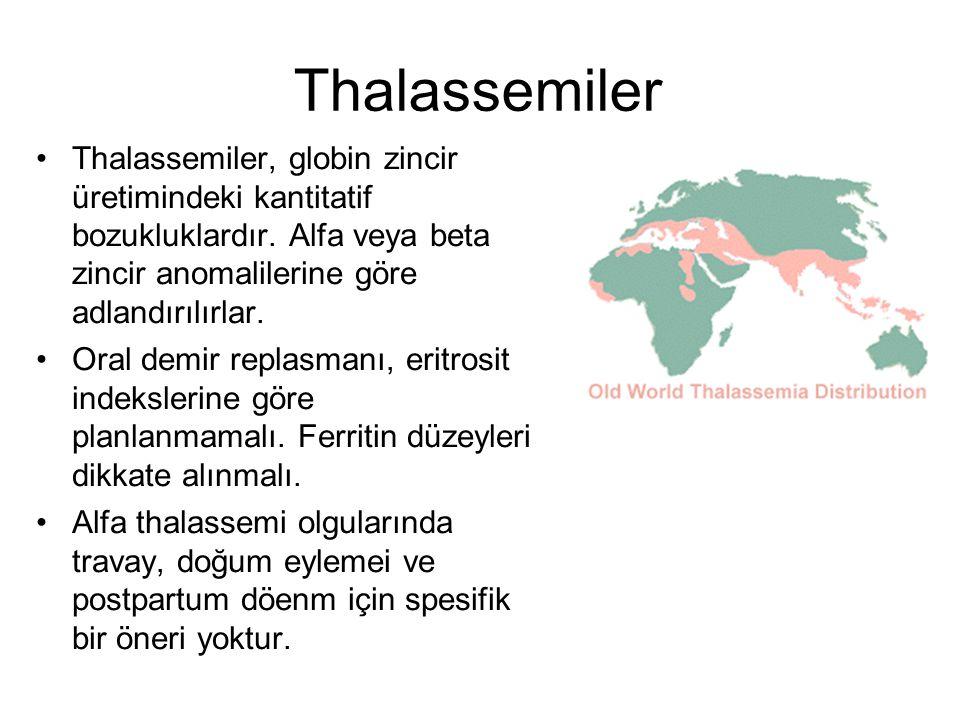Thalassemiler Thalassemiler, globin zincir üretimindeki kantitatif bozukluklardır. Alfa veya beta zincir anomalilerine göre adlandırılırlar.