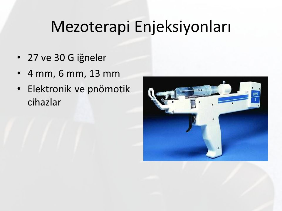 Mezoterapi Enjeksiyonları