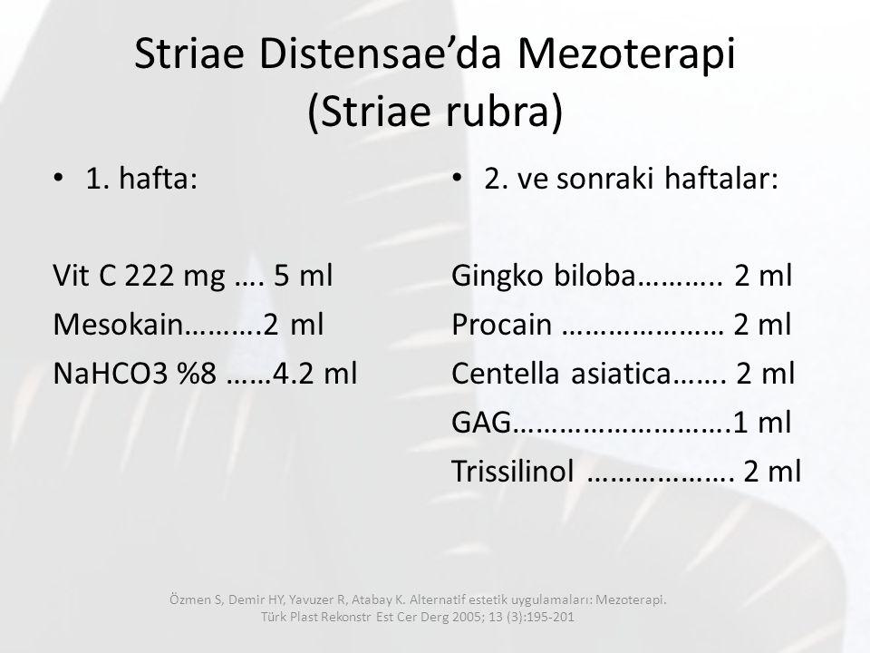 Striae Distensae'da Mezoterapi (Striae rubra)