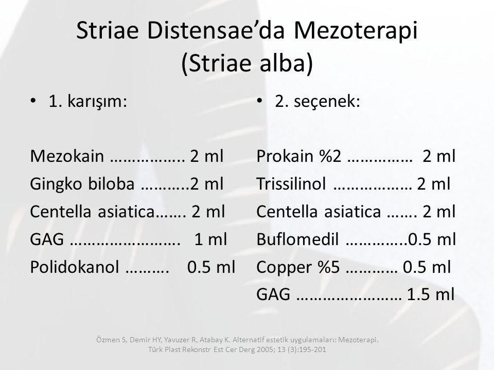 Striae Distensae'da Mezoterapi (Striae alba)