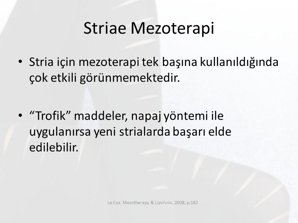Le Coz. Mesotherapy & Lipolysis. 2008, p:182