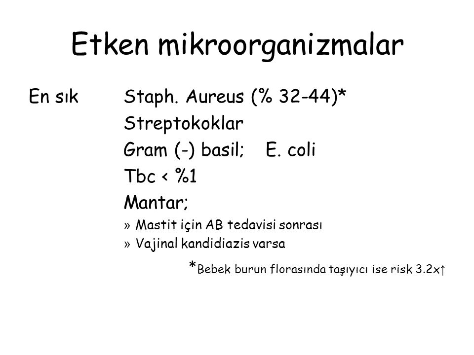 Etken mikroorganizmalar