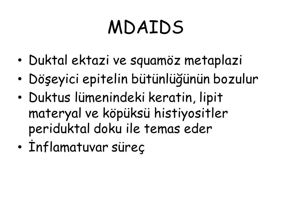 MDAIDS Duktal ektazi ve squamöz metaplazi