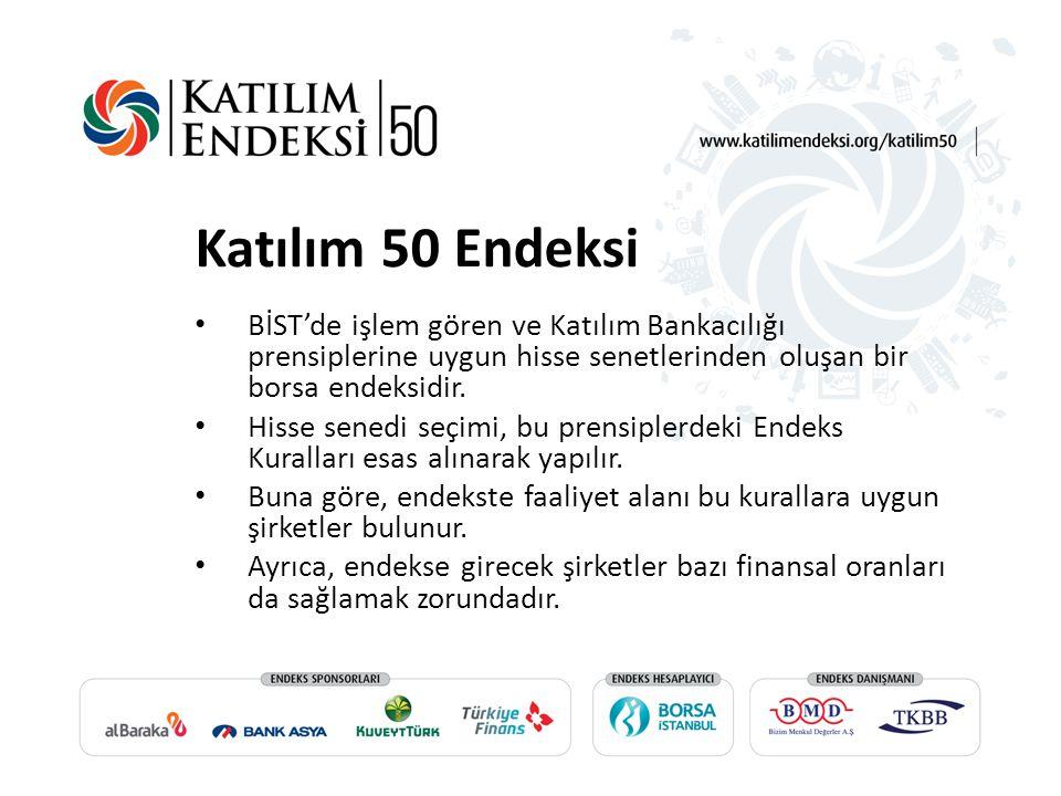 Katılım 50 Endeksi BİST'de işlem gören ve Katılım Bankacılığı prensiplerine uygun hisse senetlerinden oluşan bir borsa endeksidir.