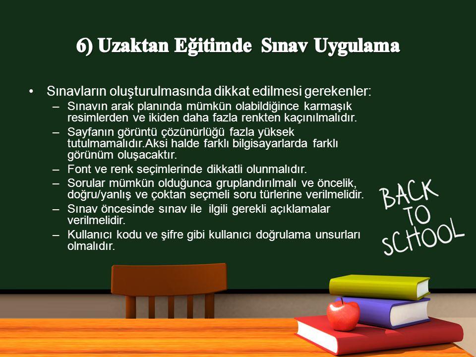 6) Uzaktan Eğitimde Sınav Uygulama