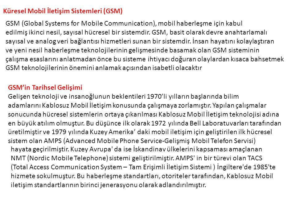 Küresel Mobil İletişim Sistemleri (GSM)