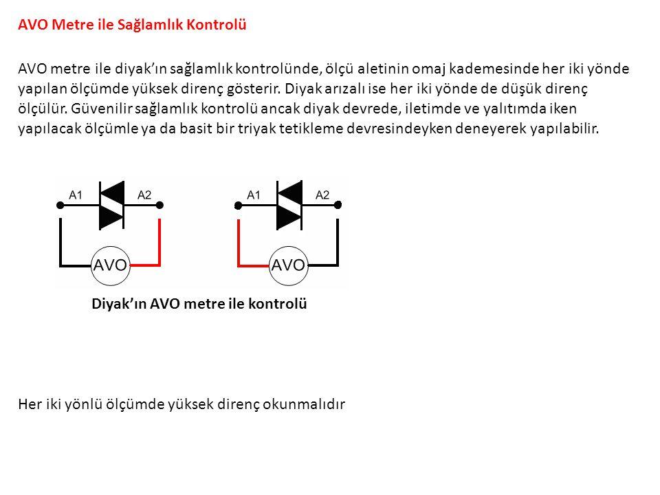 AVO Metre ile Sağlamlık Kontrolü