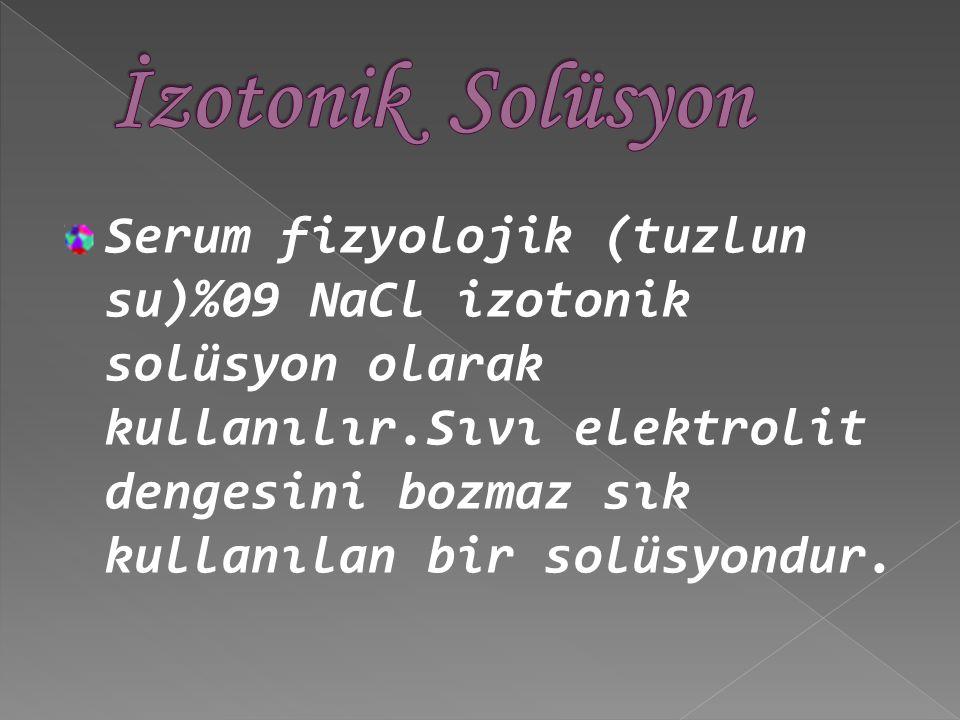 İzotonik Solüsyon
